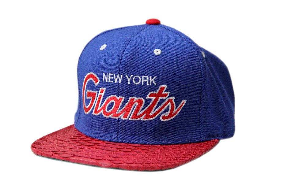 HATSURGEON x Mitchell & Ness New York Giants The Script Red Strapback