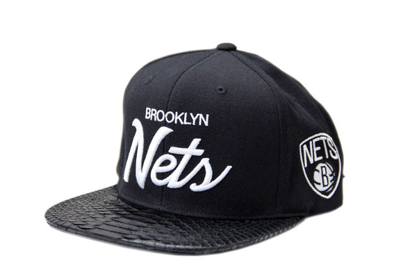 HATSURGEON x Mitchell & Ness Brooklyn Nets The Script Black Strapback