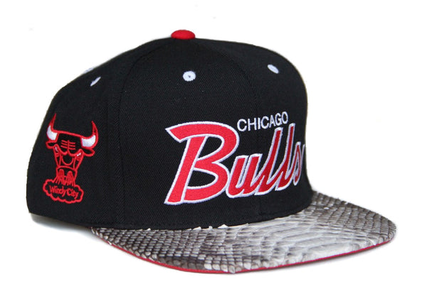 HATSURGEON x Mitchell & Ness Chicago Bulls The Script Natural Strapback