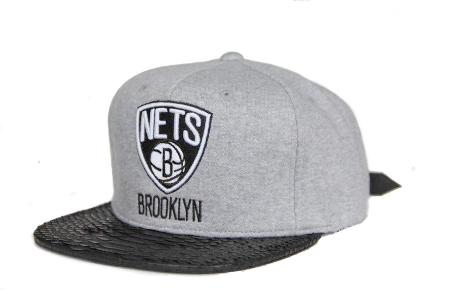 HATSURGEON x Mitchell & Ness Brooklyn Nets Fleece Strapback