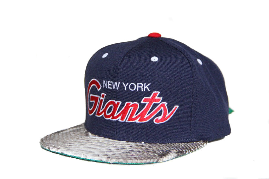 HATSURGEON x Mitchell & Ness New York Giants The Script Natural Strapback