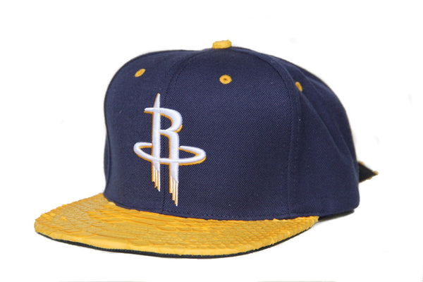 HATSURGEON x Mitchell & Ness Houston Rockets Navy/Yellow Strapback