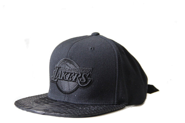 HATSURGEON x Mitchell & Ness Los Angeles Lakers XL Logo Black Strapback