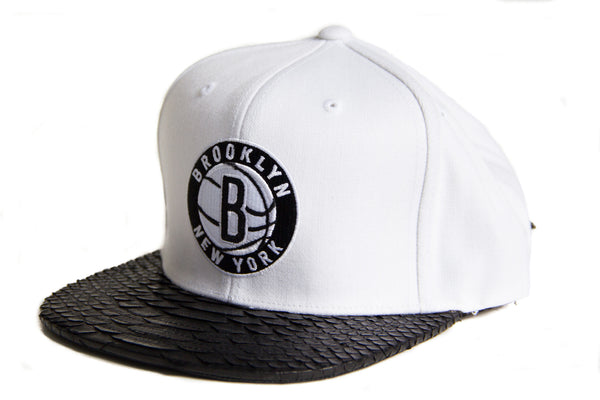 HATSURGEON x Mitchell & Ness Brooklyn Nets Solid White Strapback