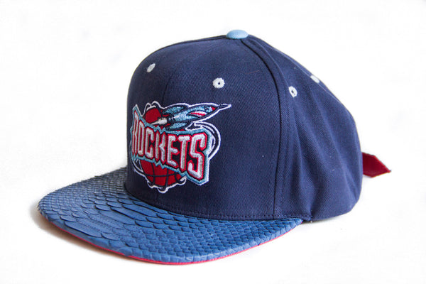 HATSURGEON x Mitchell & Ness Houston Rockets Solid Navy Strapback