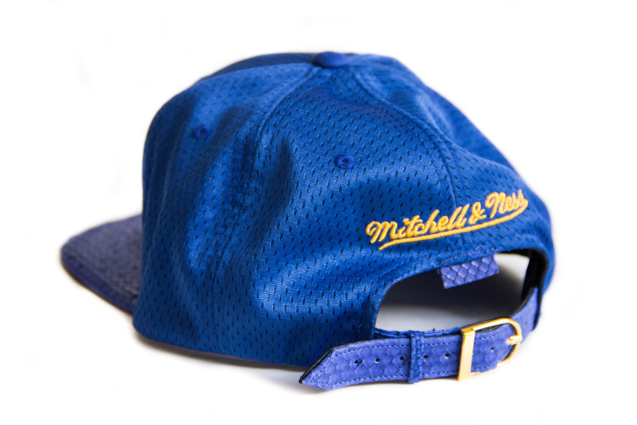 HATSURGEON x Mitchell & Ness Golden State Warriors Mesh Strapback (Blue)