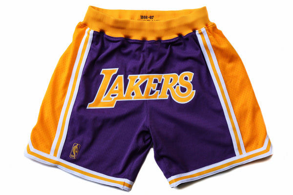 "Mitchell & Ness Los Angeles Lakers 1996-1997 ""LAKERS"" Shorts (Away)"