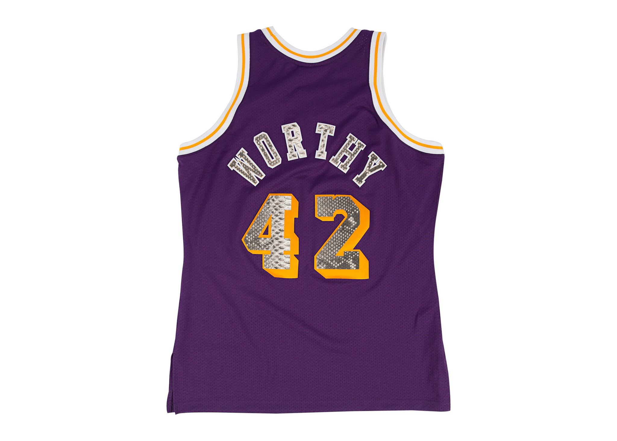 Mitchell & Ness James Worthy 1984-1985 Los Angeles Lakers Python Jersey
