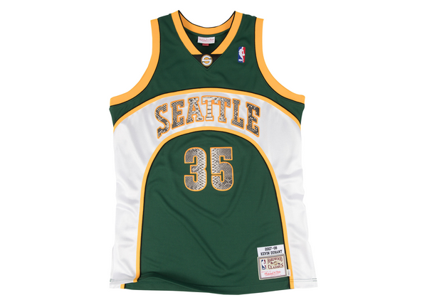 Mitchell & Ness Kevin Durant 2007-2008 Seattle SuperSonics Python Jersey