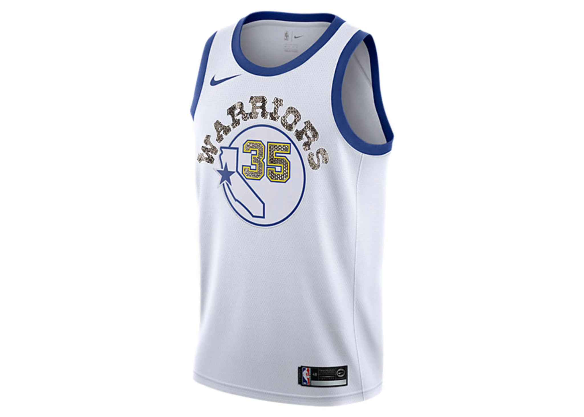 on sale c3372 082aa Nike Kevin Durant Golden State Warriors Classic Edition Python Jersey