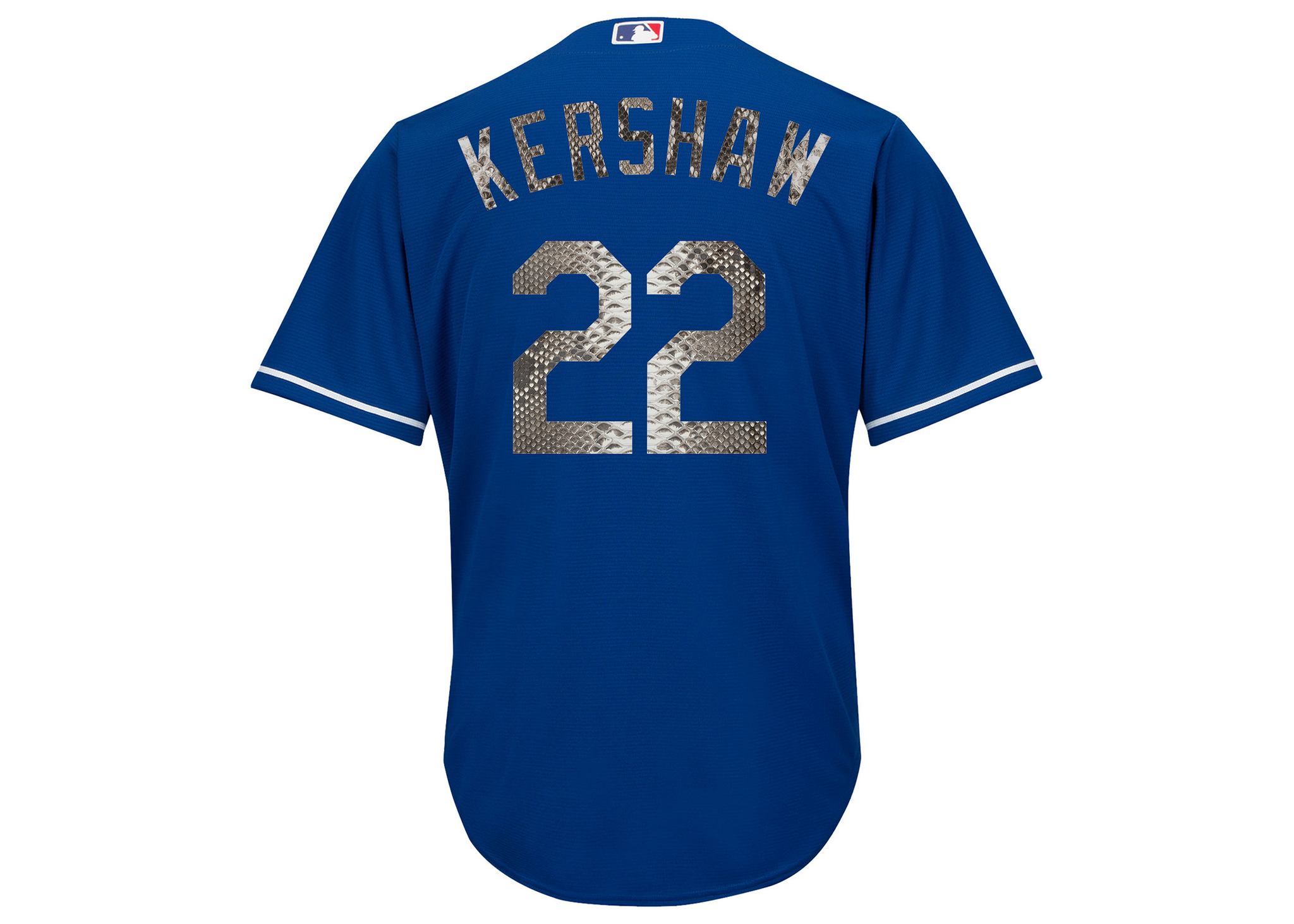 Majestic Clayton Kershaw Los Angeles Dodgers Royal Python Jersey