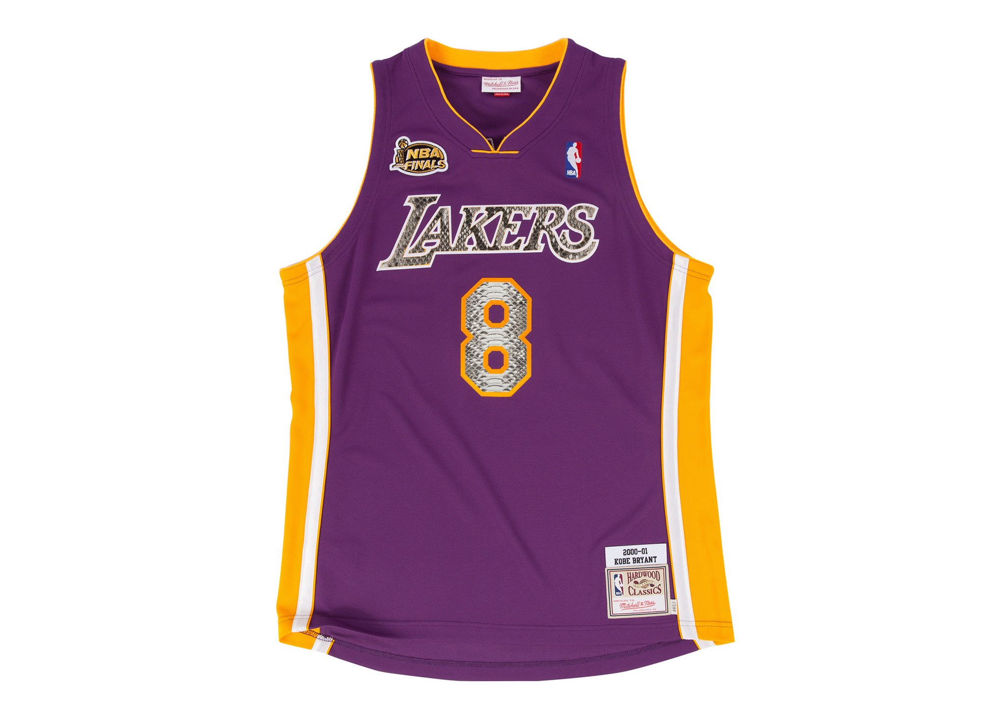 quality design 62182 92da4 Mitchell & Ness Kobe Bryant 1999-2000 Los Angeles Lakers Python Jersey
