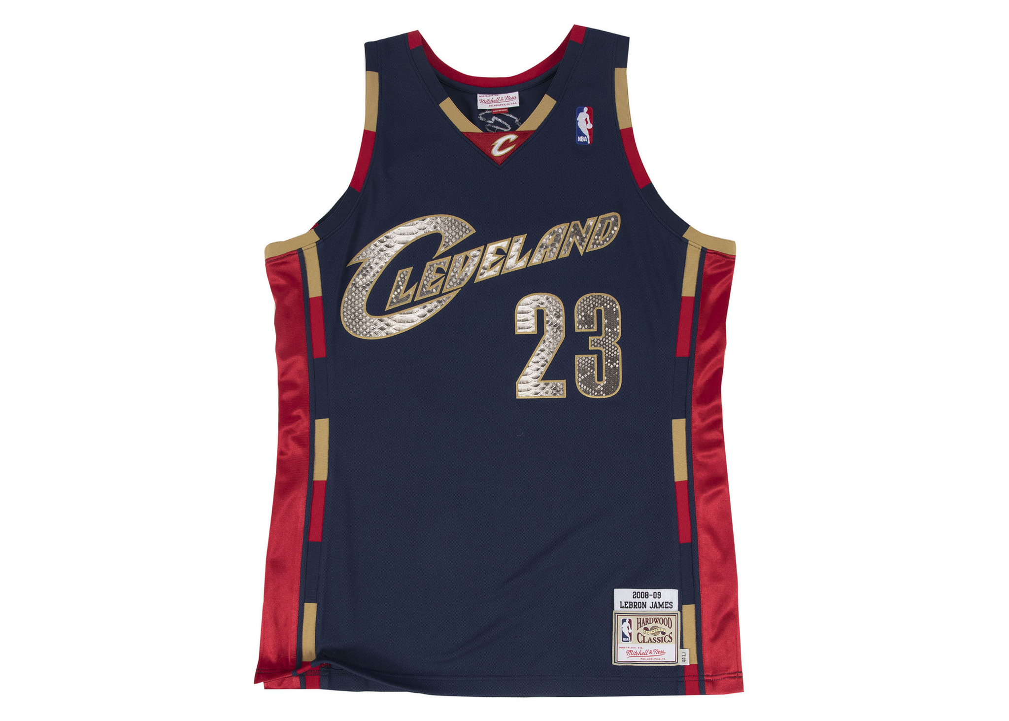 Mitchell & Ness LeBron James 2008-2009 Cleveland Cavaliers Python Jersey