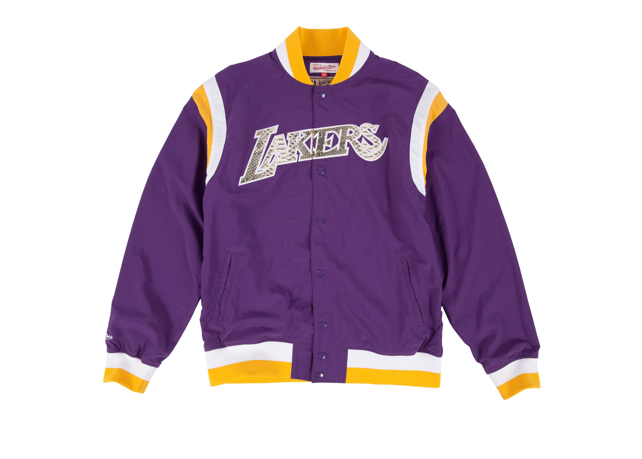 "Mitchell & Ness Los Angeles Lakers ""Nothing But Net"" Python Warm Up Jacket"