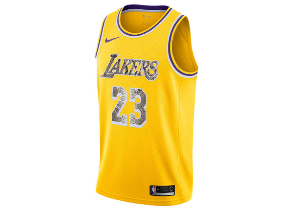 Nike LeBron James Los Angeles Lakers Python Jersey (Home)