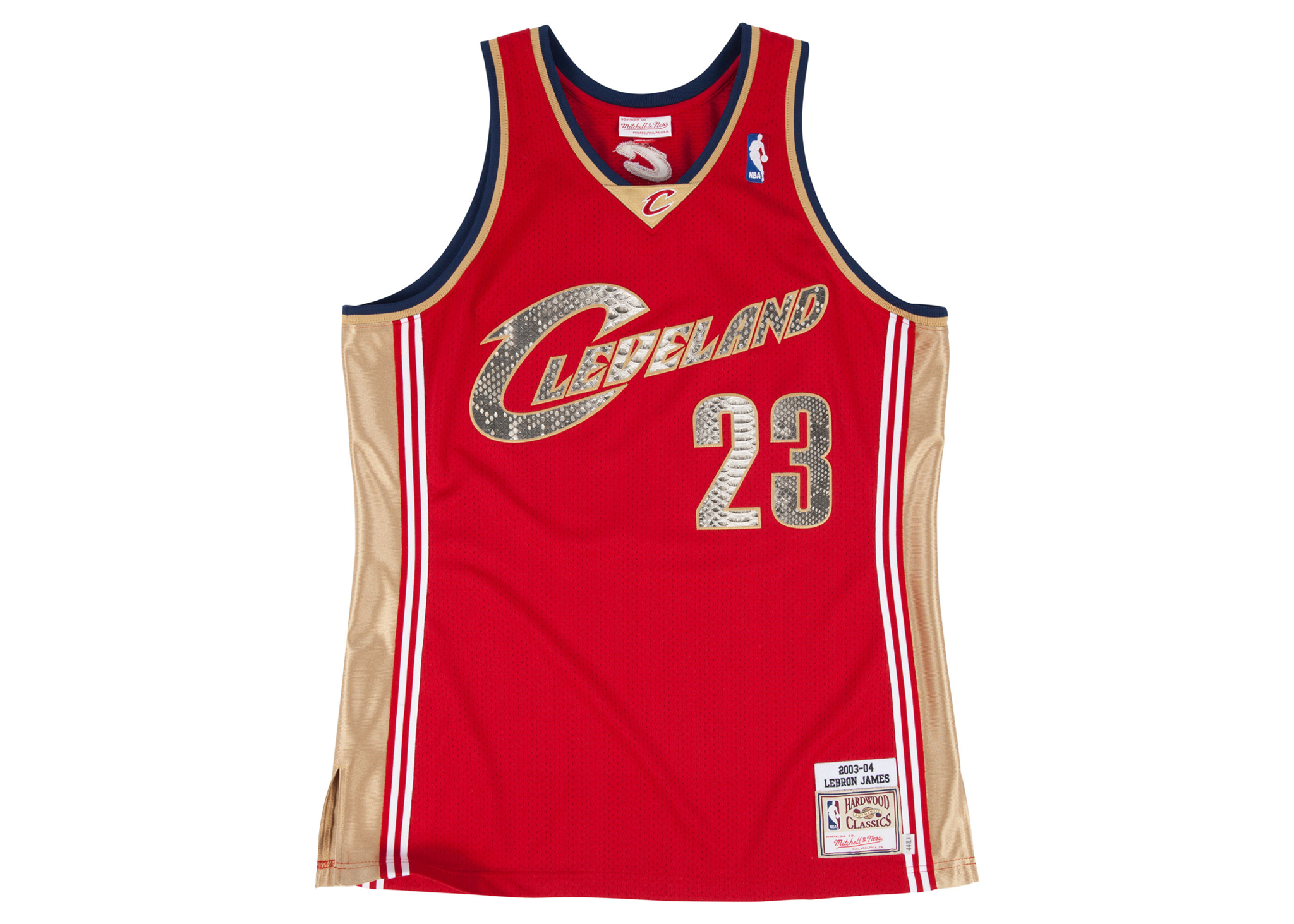 free shipping ae1fa f4824 Mitchell & Ness LeBron James 2003-2004 Cleveland Cavaliers Python Jersey  (Away)