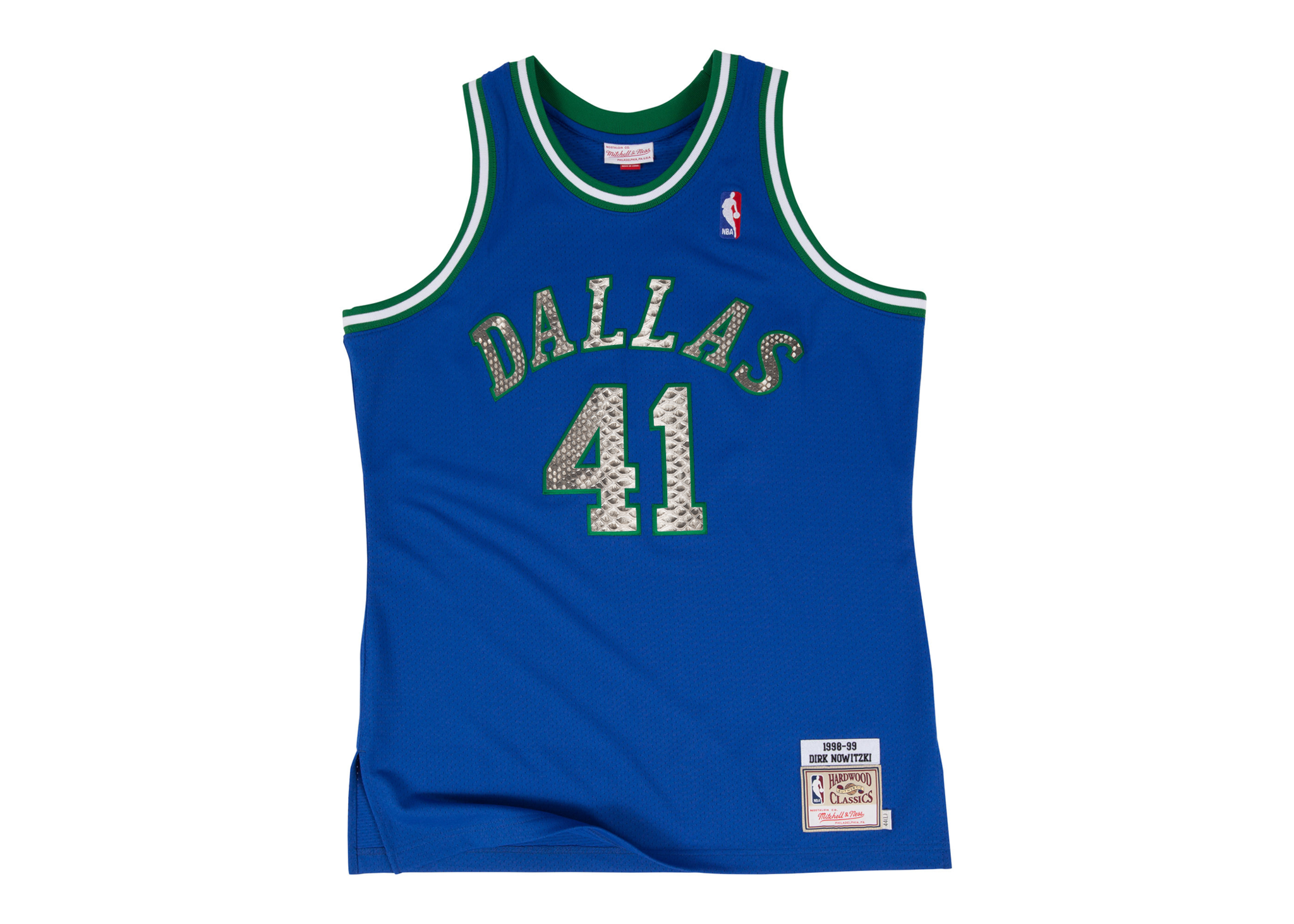 Mitchell & Ness Dirk Nowitzki 1998-1999 Dallas Mavericks Python Jersey