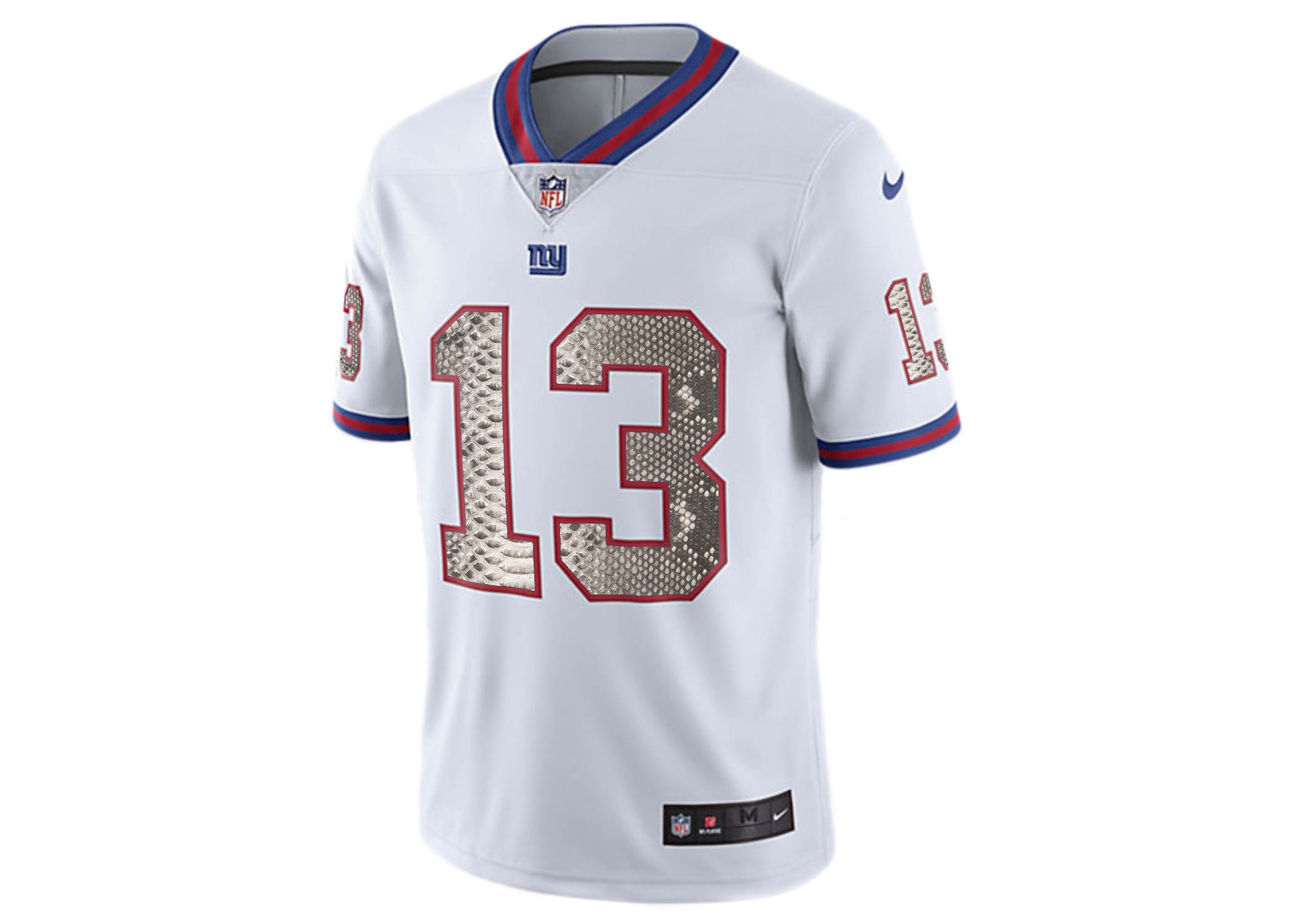competitive price e7eff 5cb91 Nike Odell Beckham Jr. White/Blue New York Giants Python Jersey