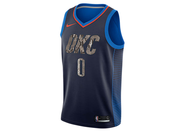 Nike Russell Westbrook Oklahoma City Thunder Classic Edition Python Jersey