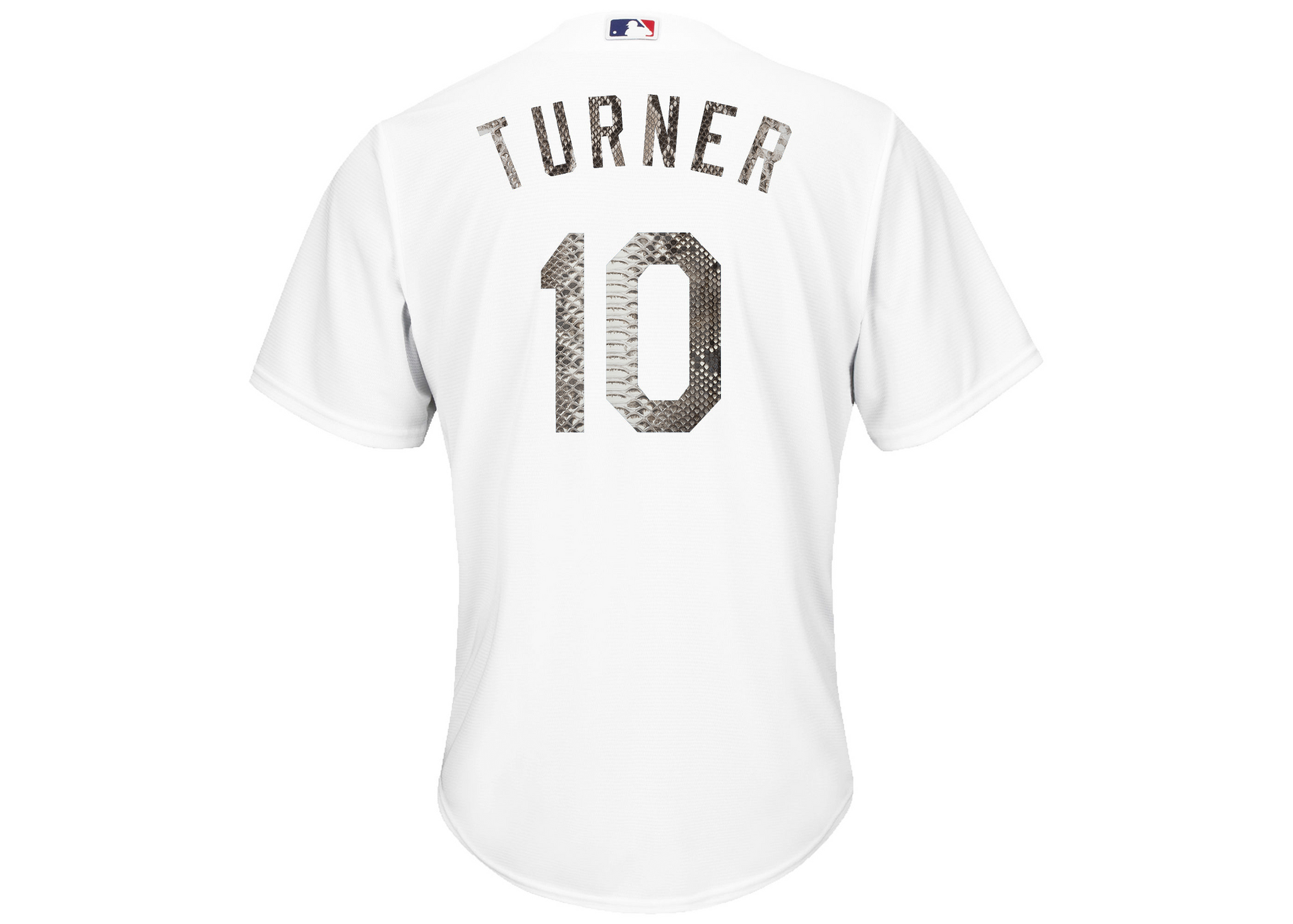 Majestic Justin Turner Los Angeles Dodgers White Python Jersey