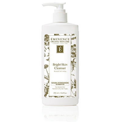 Brighten the appearance of skin and reduce the signs of aging with the help of our Bright Skin Cleanser. For normal to dry skin types, this cleanser uses two actives – Gigawhite and a Natural Hydroquinone Alternative – to give skin the appearance of being brighter and younger looking. Cruelty-free and formulated without parabens, sodium lauryl sulfates, synthetic dyes, petrochemicals, animal by-products, phthalates, GMOs and triclosan.  Retail Size: 8.4 oz / 250 ml