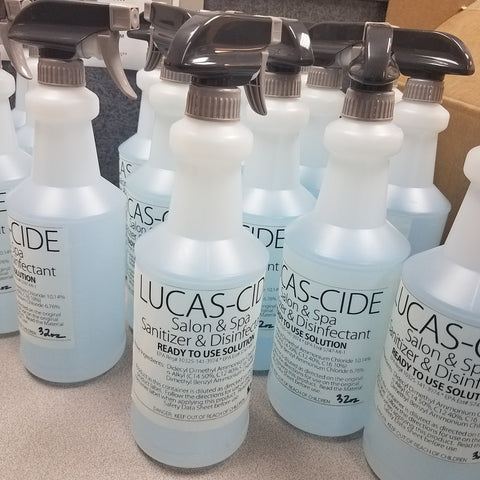 Lucas-Cide Disinfectant 16 oz. or 32 oz. bottle ****CURBSIDE PICKUP NO SHIPPING****