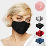 Face Mask with Vent and Filter. 3 solid colors to choose from.