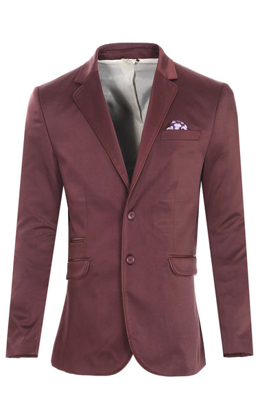 RON TOMSON - Notch Lapel Fitted Satin Blazer - RNT23 - 1