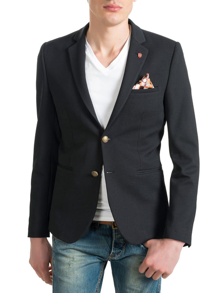 RON TOMSON - Gold Button Fitted Blazer - RNT23 - 2