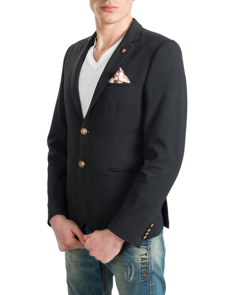 RON TOMSON - Gold Button Fitted Blazer - RNT23 - 3