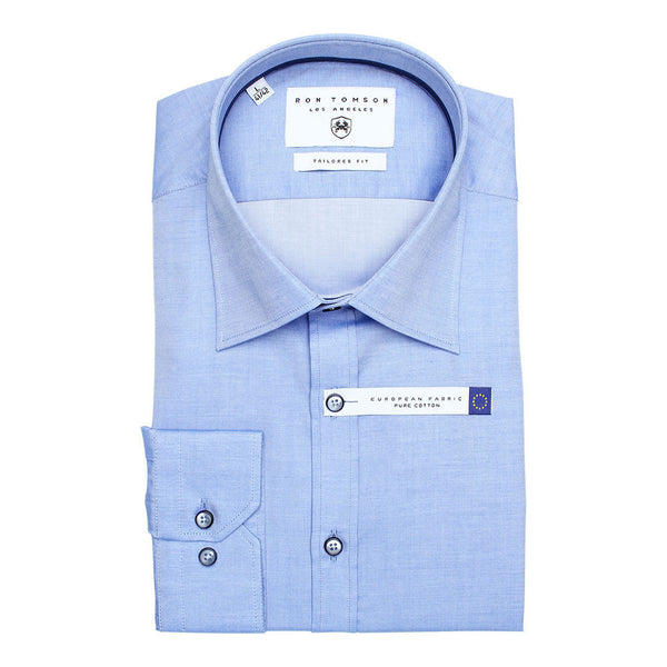 RON TOMSON - Ron Tomson Brand Cotton Shirt - Blue - RNT23