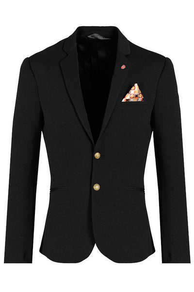 RON TOMSON - Gold Button Fitted Blazer - RNT23 - 1