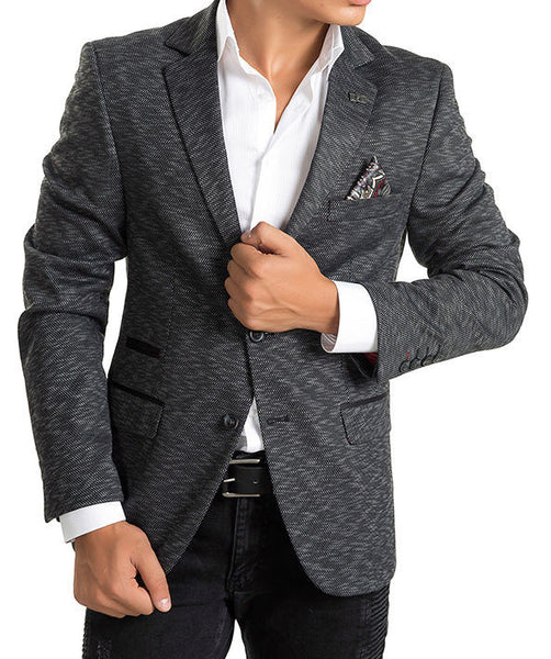RON TOMSON - Key Pattern Two Button Notch Lapel Blazer - RNT23 - 1