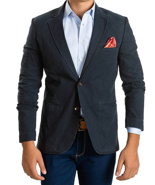 RON TOMSON - Notch Lapel Fitted Cotton Blazer - RNT23 - 1