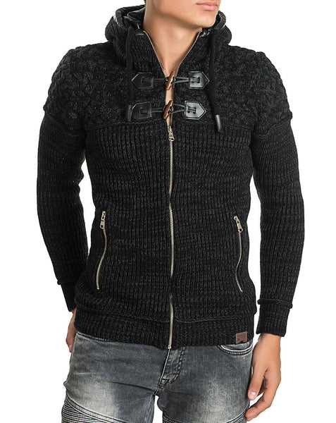 RON TOMSON - Toggle Button Zipper Cardigan - RNT23 - 1
