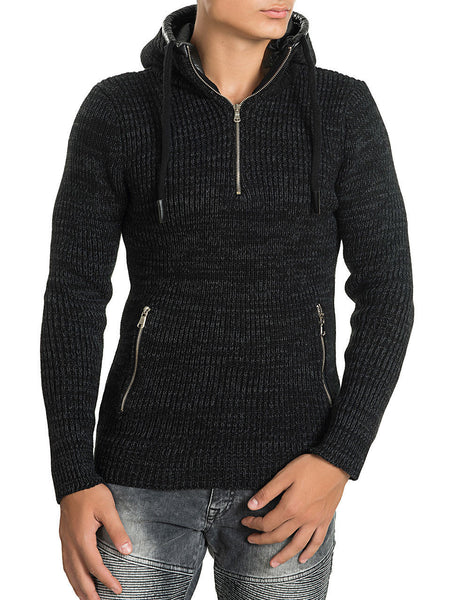 RON TOMSON - Hooded Zipper Sweater - RNT23 - 1