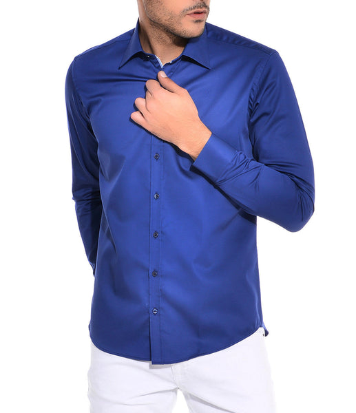 RON TOMSON - Ron Tomson Brand Cotton Shirt - Navy - RNT23 - 1