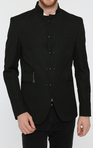 RON TOMSON - Double Stud Stand Collar Jacket - RNT23 - 1