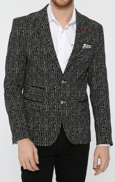 RON TOMSON - Cracked Ice Fitted Blazer - RNT23 - 1