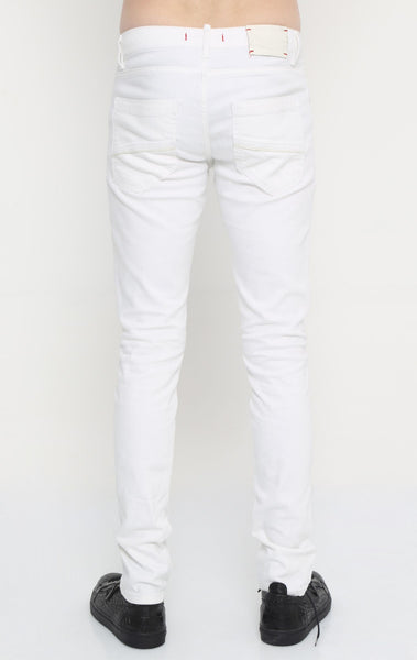 RON TOMSON - Distressed Zipper Jeans - White - RNT23 - 3