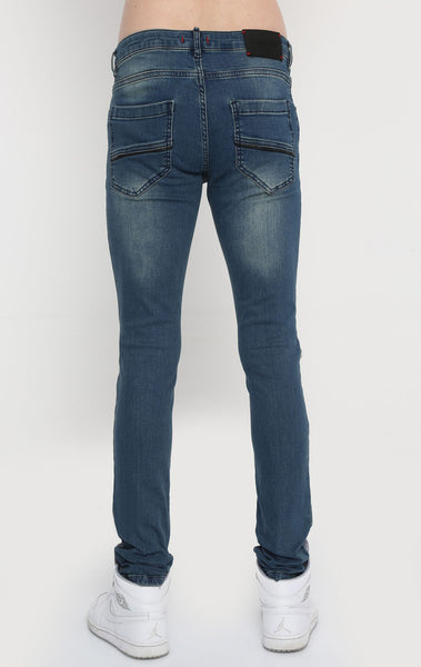 RON TOMSON - Distressed Zipper Jeans - Blue - RNT23 - 3