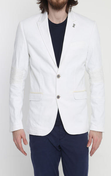 RON TOMSON - White Peak Casual Summer Blazer - RNT23 - 1