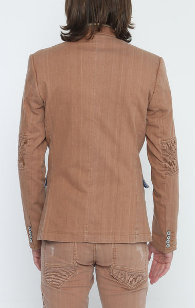 RON TOMSON - Brown Peak Casual Summer Blazer - RNT23 - 3