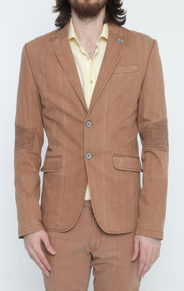 RON TOMSON - Brown Peak Casual Summer Blazer - RNT23 - 1