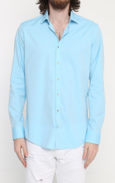 RON TOMSON - Ron Tomson Brand Slim Fit Casual Cotton Shirt - Colors - RNT23 - 1