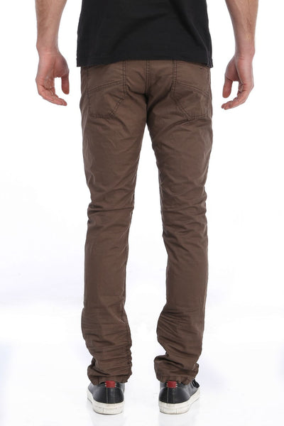 RON TOMSON - Ripped and Patched Regular Fit Jeans - Dark Brown - RNT23 - 3