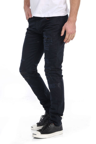 RON TOMSON - Ripped and Patched Regular Fit Jeans - Navy - RNT23 - 3