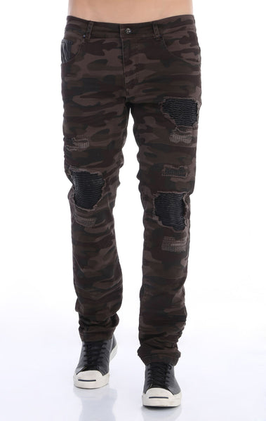 RON TOMSON - Ripped and Patched Regular Fit Jeans - DCamo - RNT23 - 1