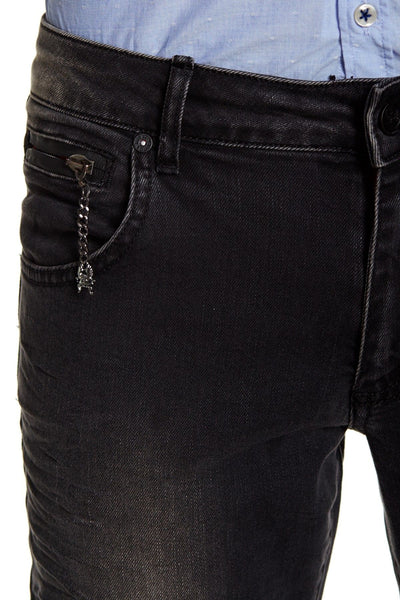 RON TOMSON - Stone Wash Slim Fit Jeans - Black - RNT23 - 3
