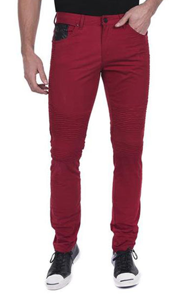 Stone Wash Slim Fit Jeans - Red